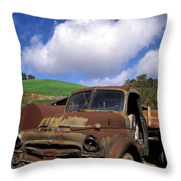 Garrod's Old Truck Throw Pillow by Kathy Yates