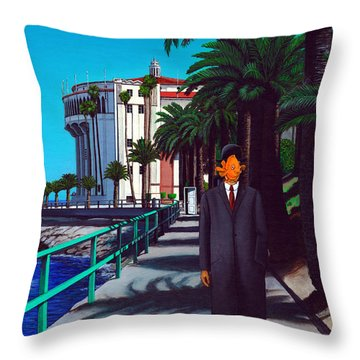 Gary Baldie Throw Pillow by Snake Jagger