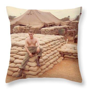 Gary On A Bunker Throw Pillow
