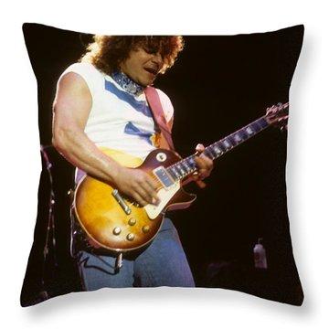 Gary Richrath Of Reo Speedwagon Throw Pillow