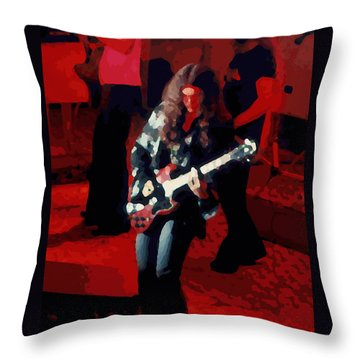 Throw Pillow featuring the photograph G R Winterland 1 by Ben Upham
