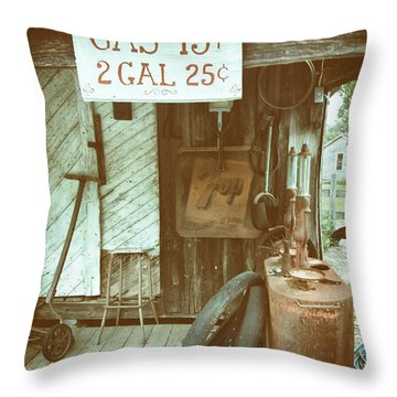 Throw Pillow featuring the photograph Gas 13 Cents by Charles McKelroy