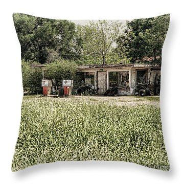 Throw Pillow featuring the photograph Gas 25 Cents by Charles McKelroy