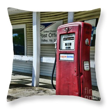 Gas And Mail 1 Throw Pillow by Paul Ward