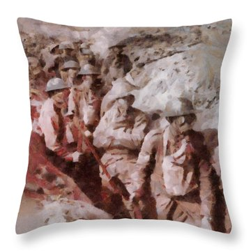 Gas Attack Wwi  Throw Pillow