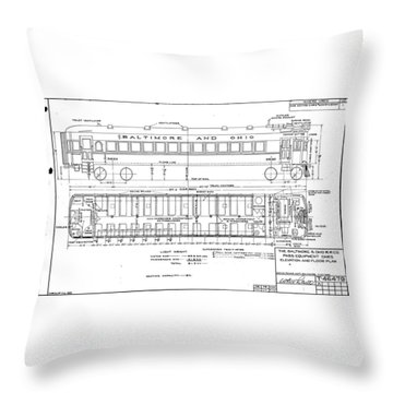 Gas Electric Car Diagram Throw Pillow