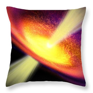 Gas Jet Throw Pillow by Corey Ford