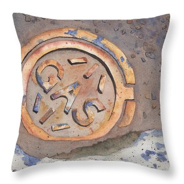 Gas Throw Pillow by Ken Powers