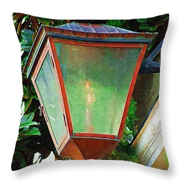 Gas Lantern Throw Pillow