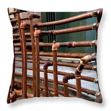 Gas Pipes And Fittings Throw Pillow