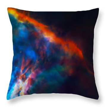 Gas Plume Orion Nebula 2 Throw Pillow by Jennifer Rondinelli Reilly - Fine Art Photography