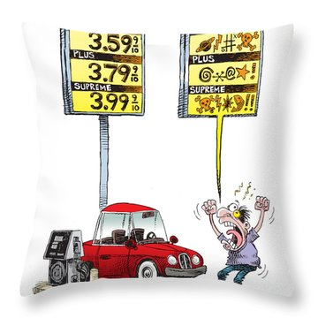 Gas Price Curse Throw Pillow