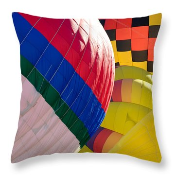 Throw Pillow featuring the photograph Gasbags by Kevin Munro