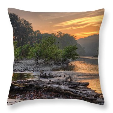 Gasconade River Throw Pillow by Robert Charity