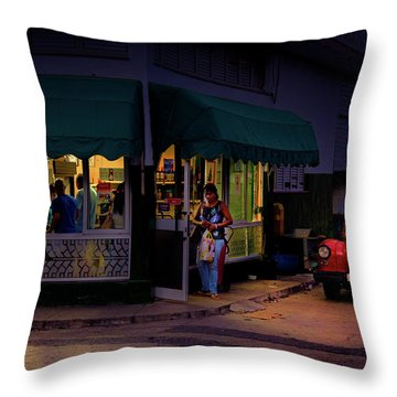 Throw Pillow featuring the photograph Gasolinera Linea Y Calle E Havana Cuba by Charles Harden