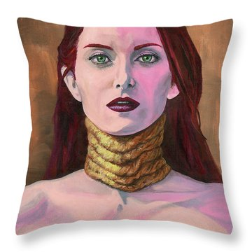 Gasp Throw Pillow