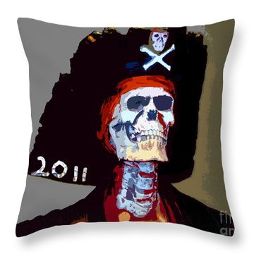 Gasparilla Pirate Fest Poster Throw Pillow by David Lee Thompson