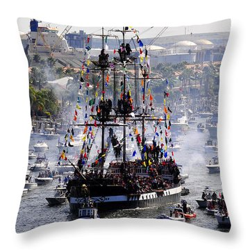Gasparillas Wild Crew Throw Pillow by David Lee Thompson