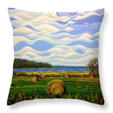 Gaspe's Grand Serenousphere Throw Pillow