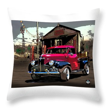 Gassed Up And Ready Throw Pillow