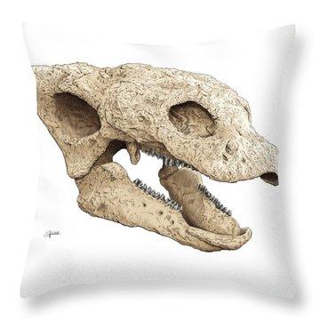 Gastonia Burgei Skull Throw Pillow