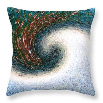 Gastronomic Tornado Throw Pillow by Will Borden