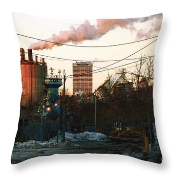 Throw Pillow featuring the digital art Gate 4 by David Blank