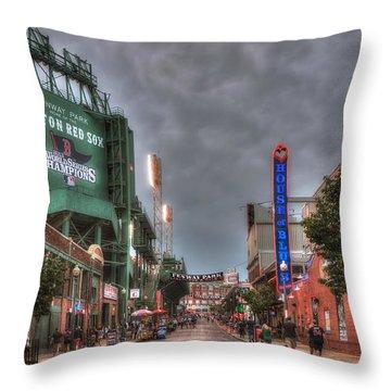 Gate E - Fenway Park Boston Throw Pillow by Joann Vitali