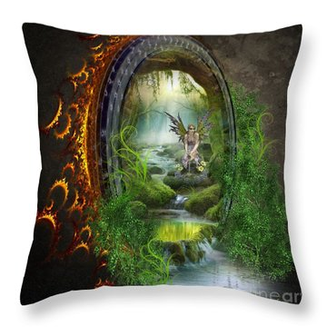 Gate To Another World Throw Pillow