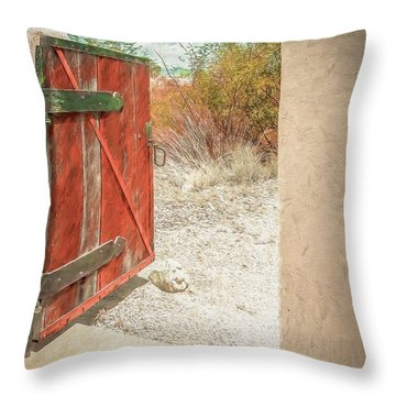 Gate To Oracle Throw Pillow