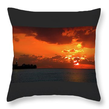 Gate To The Americas Throw Pillow