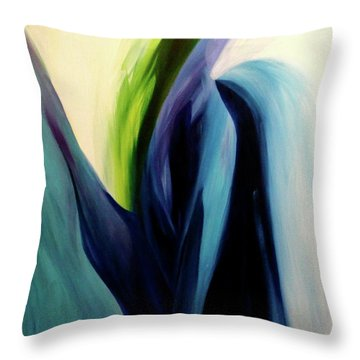 Gate To The Garden  By Paul Pucciarelli Throw Pillow
