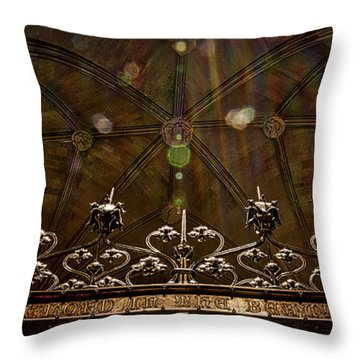 Gate To The Holy Spirit Chapel Throw Pillow