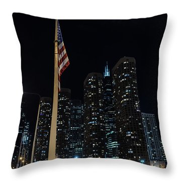 Gate To The West Loop Chicago Throw Pillow