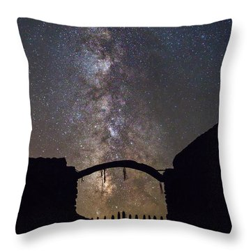 Gate Under The Stars Throw Pillow