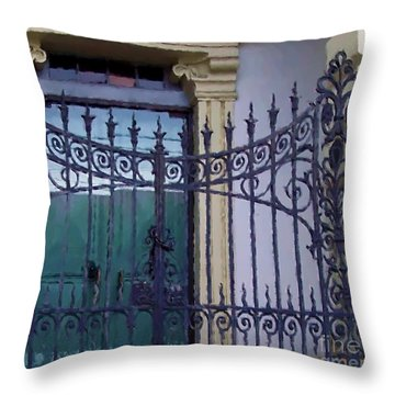 Gated Throw Pillow by Debbi Granruth