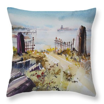 Gated Shore Throw Pillow