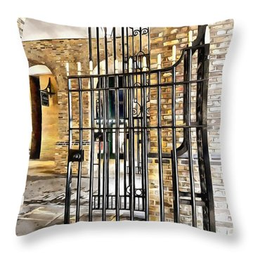 Gates At Hay's Galleria London Throw Pillow