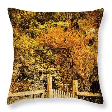 Gates In Fall Throw Pillow