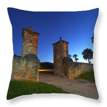 Gates Of The City Throw Pillow