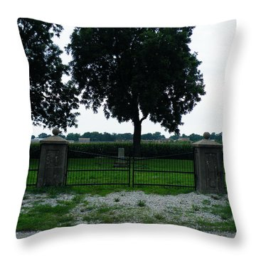 Throw Pillow featuring the photograph Gates Of Youth Cemetery by The GYPSY