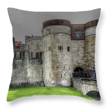 Gates To The Tower Of London Throw Pillow