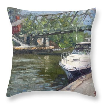 Gateway Harbor Park Throw Pillow