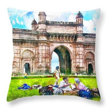 Gateway Of India Throw Pillow