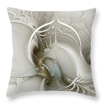 Gateway To Heaven-fractal Art Throw Pillow