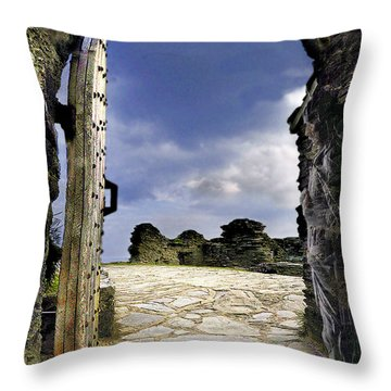 Gateway To The Castle  Throw Pillow