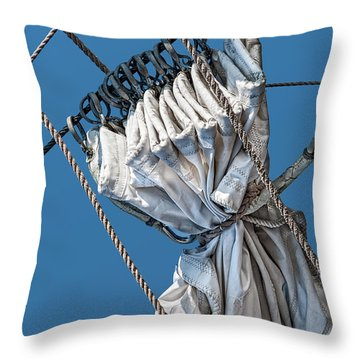 Gathered Sail Throw Pillow