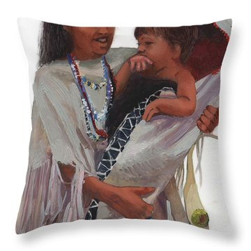 Gathered Tenderness Throw Pillow