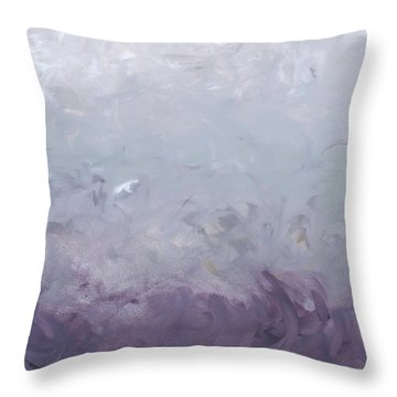 Seeing Through The Lens - Shades Of Purple Throw Pillow