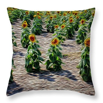 Gathering In Place Throw Pillow